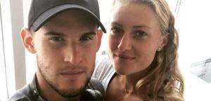 Dominic Thiem en Kristina Mladenovic - © Dominic Thiem (Instagram)
