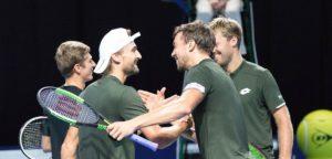 Ruben Bemelmans, Kimmer Coppejans, Kevin Krawietz en Andreas Mies - © European Open