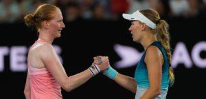 Alison Van Uytvanck & Caroline Wozniacki - © Jimmie48 Tennis Photography