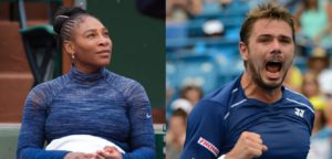 Serena Williams en Stanislas Wawrinka - - © Jimmie48 Tennis Photography en Christopher Levy