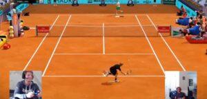 David Goffin en Alexander Zverev - © Mutua Madrid Open Virtual Pro