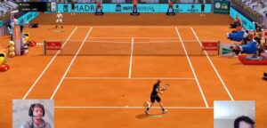 David Goffin en Andy Murray - © Mutua Madrid Open Virtual Pro