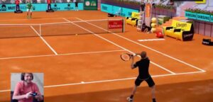 David Goffin en Stefanos Tsitsipas - © Mutua Madrid Open Virtual Pro