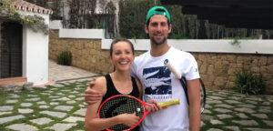 Jelena en Novak Djokovic - © Novak Djokovic (Facebook)