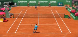 Rafael Nadal en Roger Federer in Tennis World Tour - © YouTube