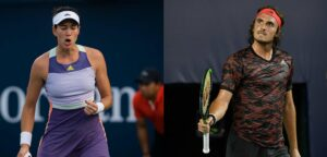 Garbiñe Muguruza en Stefanos Tsitsipas - © Jimmie48 Tennis Photography en Antoine Couvercelle (UTS)