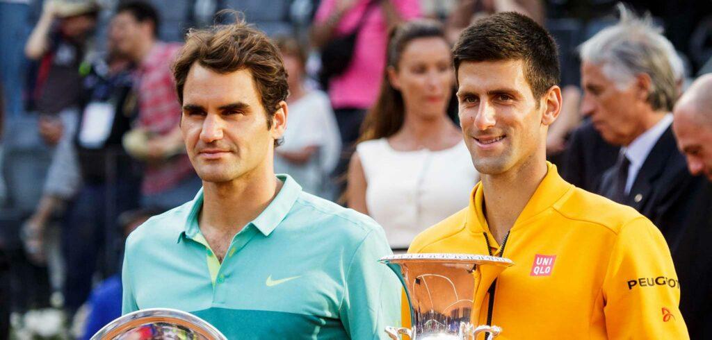 Roger Federer en Novak Djokovic - © mirsasha (Flickr)