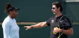 Serena Williams en Patrick Mouratoglou - © Jimmie48 Tennis Photography