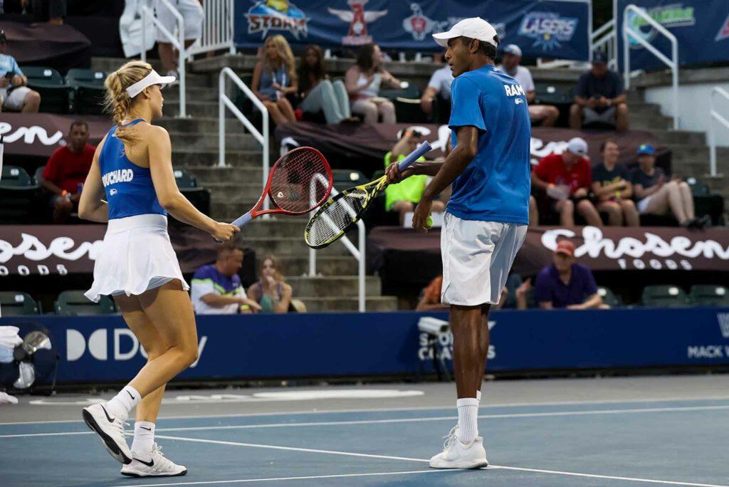 Eugenie Bouchard en Rajeev Ram - © World TeamTennis