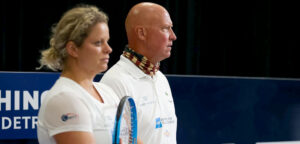 Kim Clijsters en Luke Jensen - © World TeamTennis
