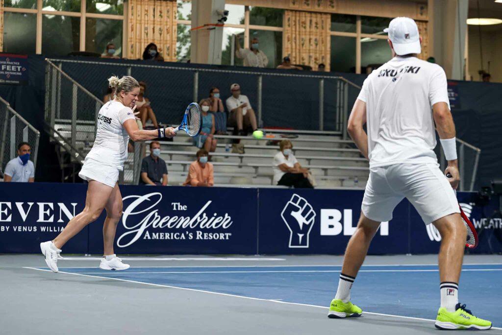 Kim Clijsters en Neal Skupski - © World TeamTennis
