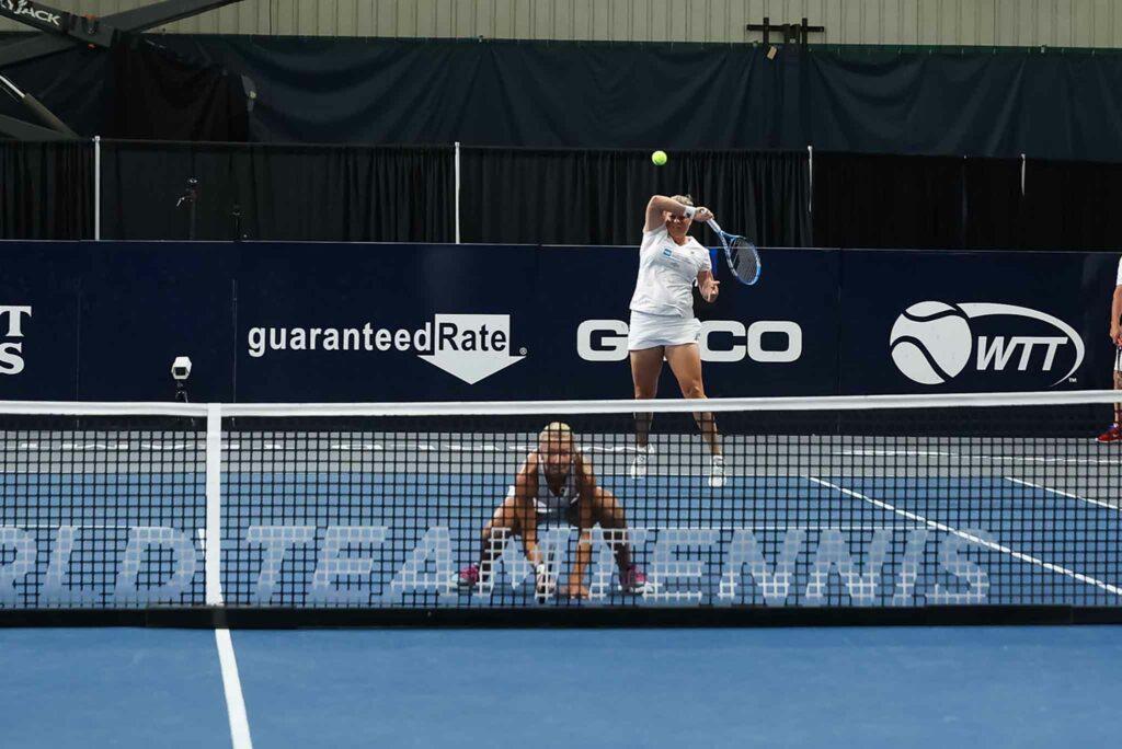 Kveta Peschke en Kim Clijsters - © World TeamTennis
