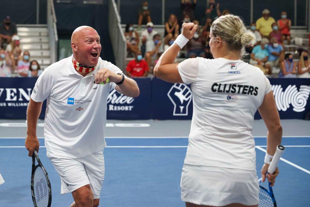 Luke Jensen en Kim Clijsters - © World TeamTennis