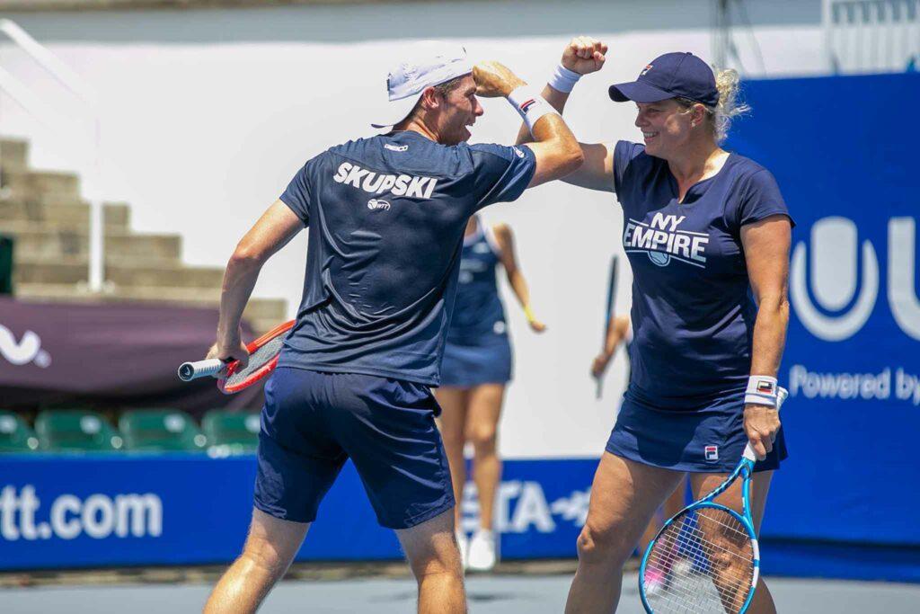 Neal Skupski en Kim Clijsters - © World TeamTennis