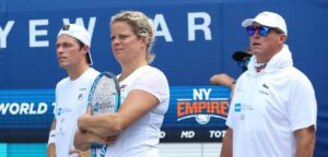 Neal Skupski, Kim Clijsters en Luke Jensen - © World TeamTennis