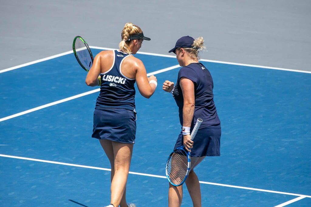 Sabine Lisicki en Kim Clijsters - © World TeamTennis