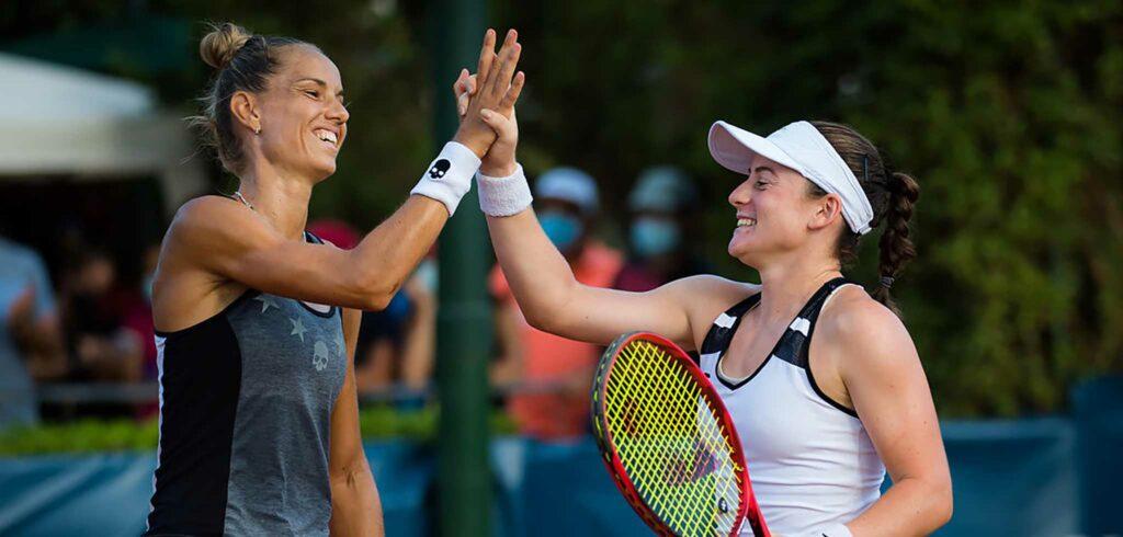 Arantxa Rus en Tamara Zidansek - © Jimmie48 Tennis Photography
