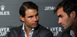 Rafael Nadal en Roger Federer - © mirsasha (Flickr)