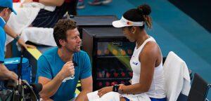 Wim Fissette en Naomi Osaka - © Jimmie48 Tennis Photography