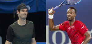 Andy Murray en Gaël Monfils - © Christophe Moons en Dubai Duty Free Tennis Championships