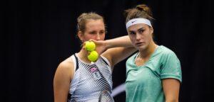 Aryna Sabalenka en Elise Mertens - © Jimmie48 Tennis Photography