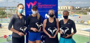 Lara Salden, Reka-Luca Jani, Anna Bondar en Tereza Mihalikova - © WTAG (Facebook)