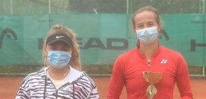 Lisa Pigato en Hanne Vandewinkel - © Haskovo Cup (Facebook)