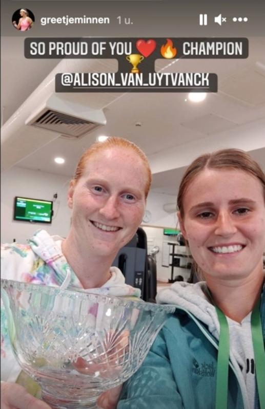 Alison Van Uytvanck en Greet Minnen - © Greet Minnen (Instagram)