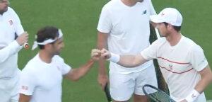 Roger Federer en Andy Murray - © Twitter