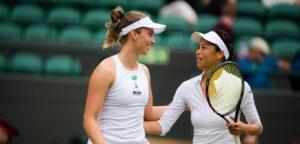 Elise Mertens en Su-Wei Hsieh - © Jimmie48 Tennis Photography