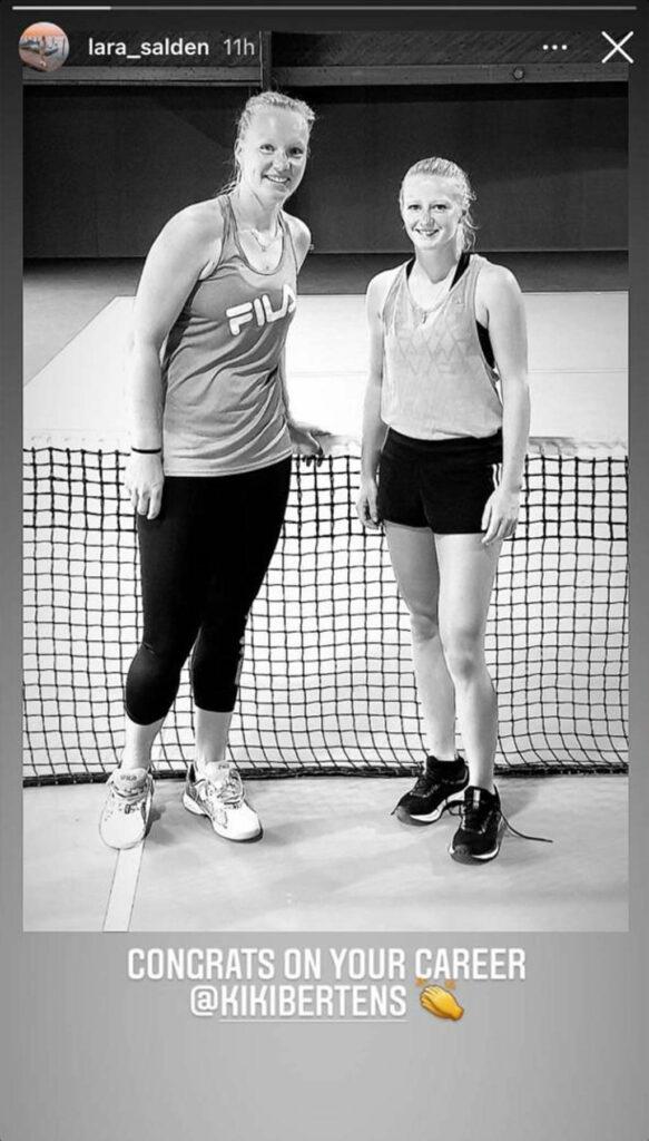 Kiki Bertens en Lara Salden - © Lara Salden (Instagram)