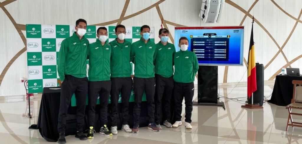 Het Boliviaanse Davis Cup-team - © Tennis Vlaanderen