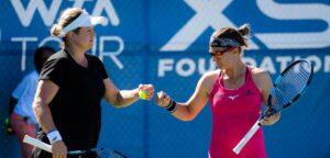 Kim Clijsters en Kirsten Flipkens - © Jimmie48 Tennis Photography