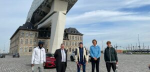 Frances Tiafoe, Peter Wouters, Zizou Bergs, Dick Norman en Jannik Sinner - © Melissa Van de Wiele